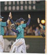 Texas Rangers V Seattle Mariners Wood Print