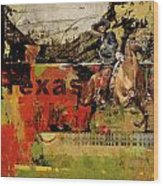 Texas Rodeo Wood Print by Corporate Art Task Force