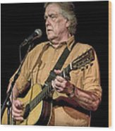 Texas Singer Songwriter Guy Clark Wood Print