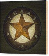 Texas Star Wood Print