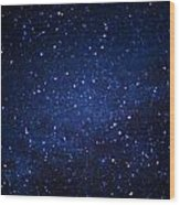 Texas Stars Wood Print