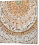 Texas State Building Dome Wood Print