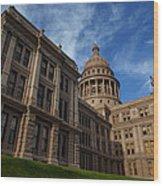 Texas State Capitol 3 Wood Print