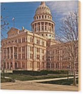 Texas State Capitol Building Wood Print