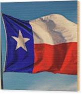 Texas State Flag - Texas Lone Star Flag Wood Print