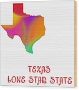 Texas State Map Collection 2 Wood Print