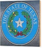 Texas State Seal Wood Print