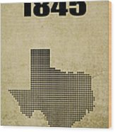 Texas Statehood 2 Wood Print