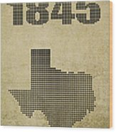 Texas Statehood Wood Print