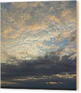 Texas Storm Cloud Sunset Wood Print