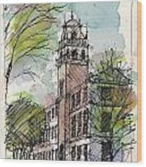 Texas Tech Administration Building Wood Print