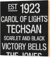 Texas Tech College Town Wall Art Wood Print
