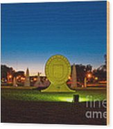 Texas Tech Seal At Night Wood Print