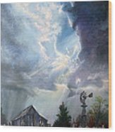 Texas Thunderstorm Wood Print