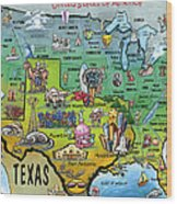 Texas Usa Wood Print