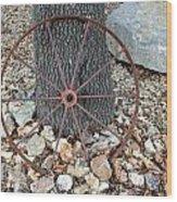 Texas Wagon Wheel Wood Print