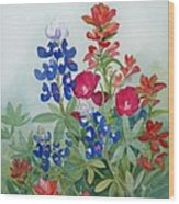 Texas Wildflowers Wood Print