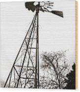 Texas Windmill 2 Wood Print