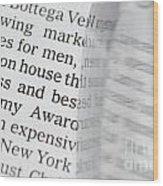 Text And Eyeglasses Wood Print
