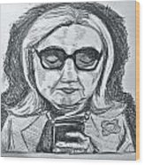 Texts From Hillary Wood Print by Cheryl Bond