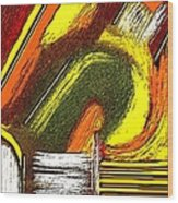 Textural 195 Wood Print