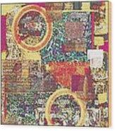 Textural 210 Wood Print