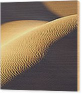 Texture Pattern On Sand Dunes Wood Print