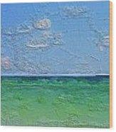 Textured Beach Series 1 Of 2 Wood Print