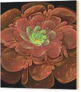 Textured Bloom Wood Print by Sandy Keeton
