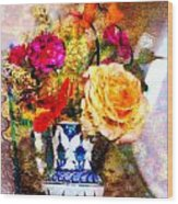 Textured Bouquet Wood Print