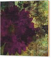 Textured Flora Wood Print by Ankeeta Bansal