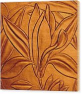 Textured Flower3 Wood Print
