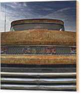 Textured Ford Truck 2 Wood Print