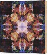 Textured Geometric Mandala Wood Print