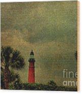 Textured Lighthouse Wood Print