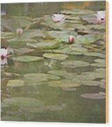 Textured Lilies Image  Wood Print