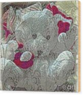 Textured Teddy Wood Print