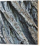 Textured Tree Bark Wood Print
