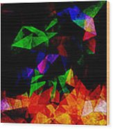 Textured Triangles With Color Wood Print