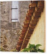 Textures In A Provence Village Wood Print