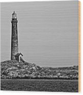 Thacher Island's North Tower Lighthouse Wood Print