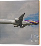 Thai Airways A340 Airbus Wood Print
