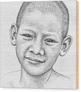 Thai Boy Wood Print