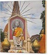 Thai Buddha Wood Print