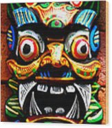 Thai Buddhist Mask Wood Print