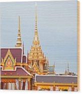 Thai Construction Design. Wood Print