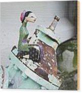 Thai Figurine 1 Wood Print by William Patrick