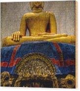 Thai Golden Buddha Wood Print