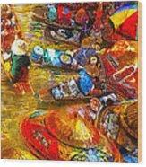 Thai Market Day Wood Print