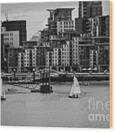 Thames Sailing Wood Print
